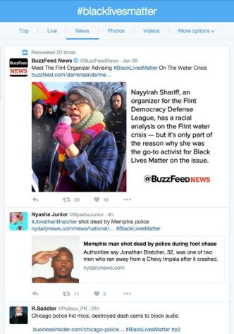 #BlackLivesMatter is a popular hashtag for Twitter posts about inequality and racism.