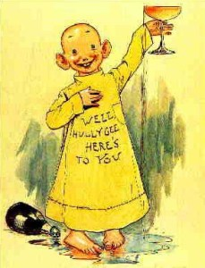The Yellow Kid was the name of comic strip character that ran from 1895 to 1898 in Joseph Pulitzer's New York World. [The image is in the public domain.]