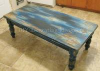 Aqua Table Distressing Project - Fun And Fabulous!