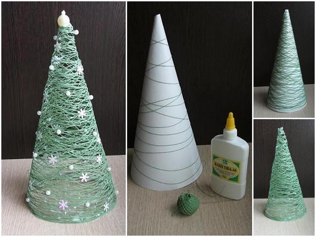 Diy christmas decorations christmas trees glue