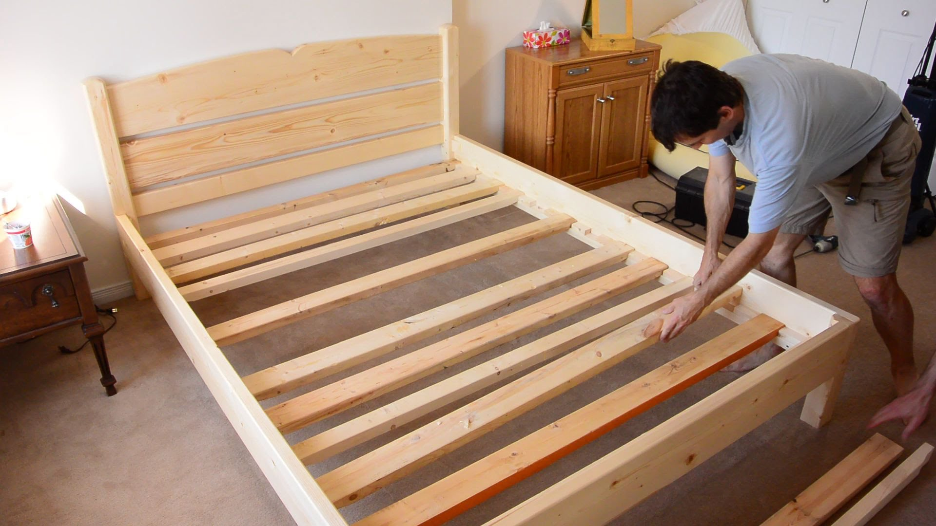 How To Build A King Size Platform Bed Frame With Drawers
