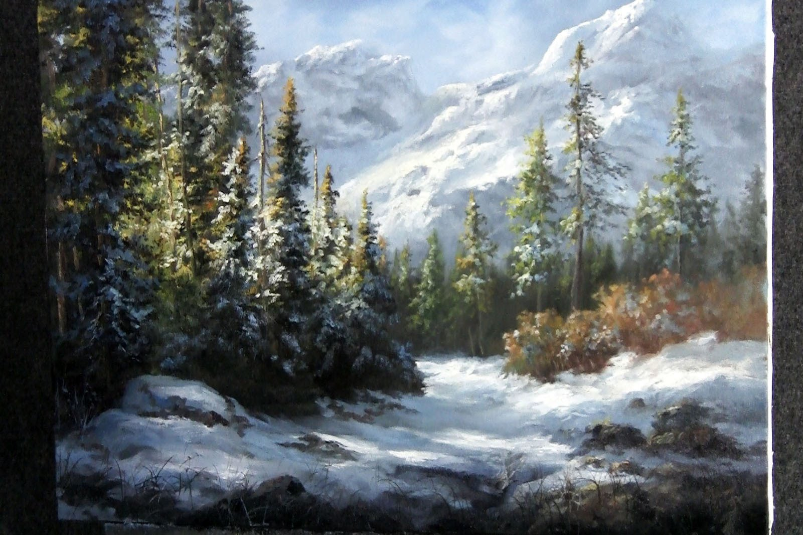 Fall Cabin The Woods Wallpaper Paint With Kevin Hill Snowy Mountain Forest Diy Fyi