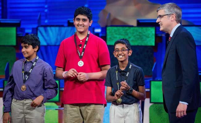 Indian American students sweep the National Geographic Bee, Rishi Nair from Florida takes first place