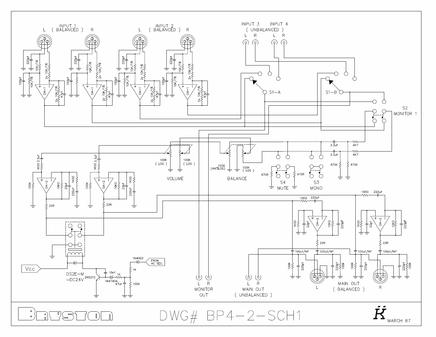 audio preamplifiers projects and circuit 7