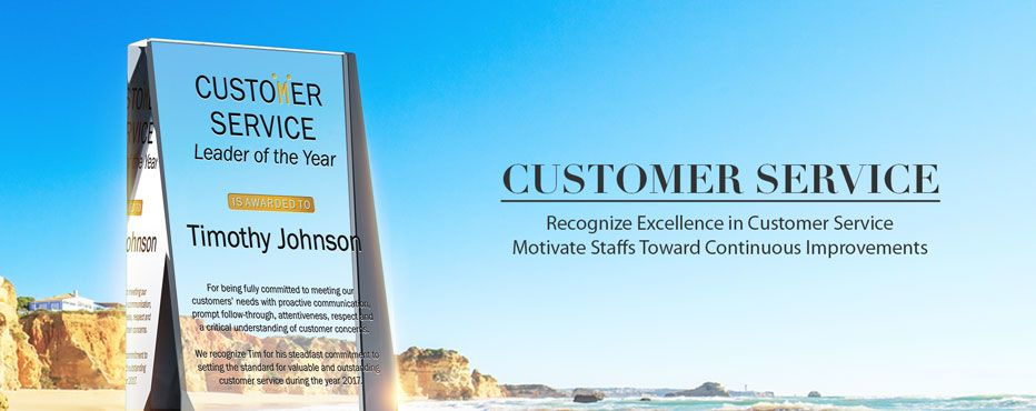 Personalized Customer Service Plaques - DIY Awards