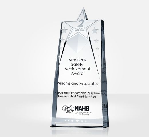 Star Safety Recognition Plaque  Sample Wording Ideas DIY Awards