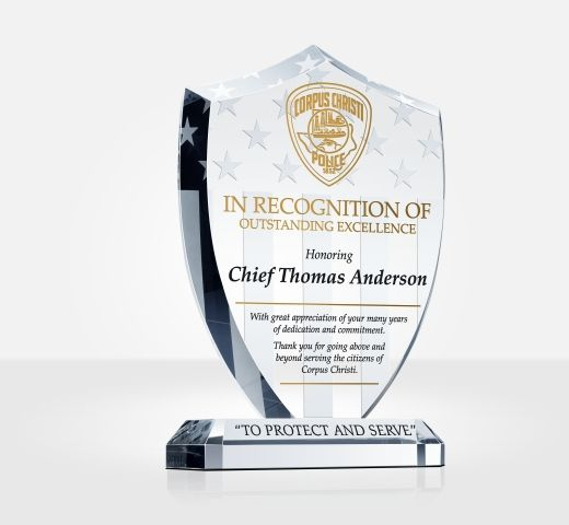 Unique Police Recognition Plaques and Sample Wordings DIY Awards