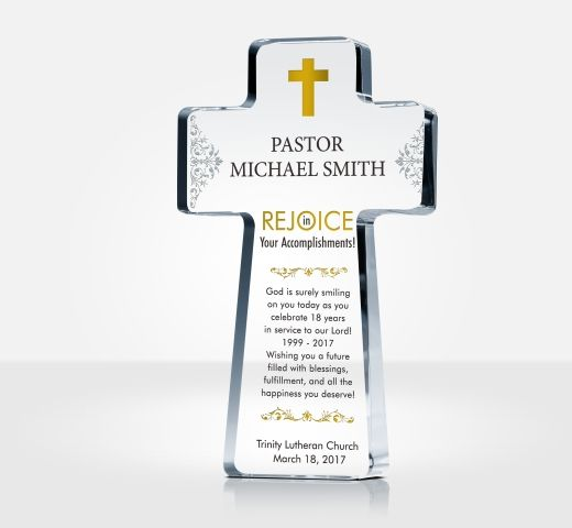 Pastor Appreciation Cross Plaques and Sample Wordings DIY Awards