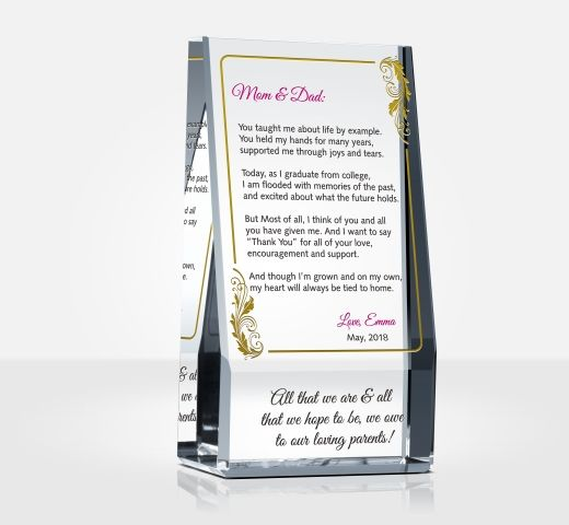 Graduation Thank You Gift for Parents DIY Awards - thank you for graduation