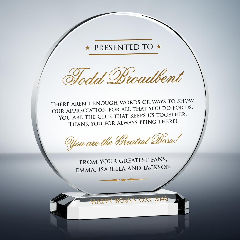 Greatest Boss Appreciation Plaque (#451-2) Wording Ideas DIY Awards