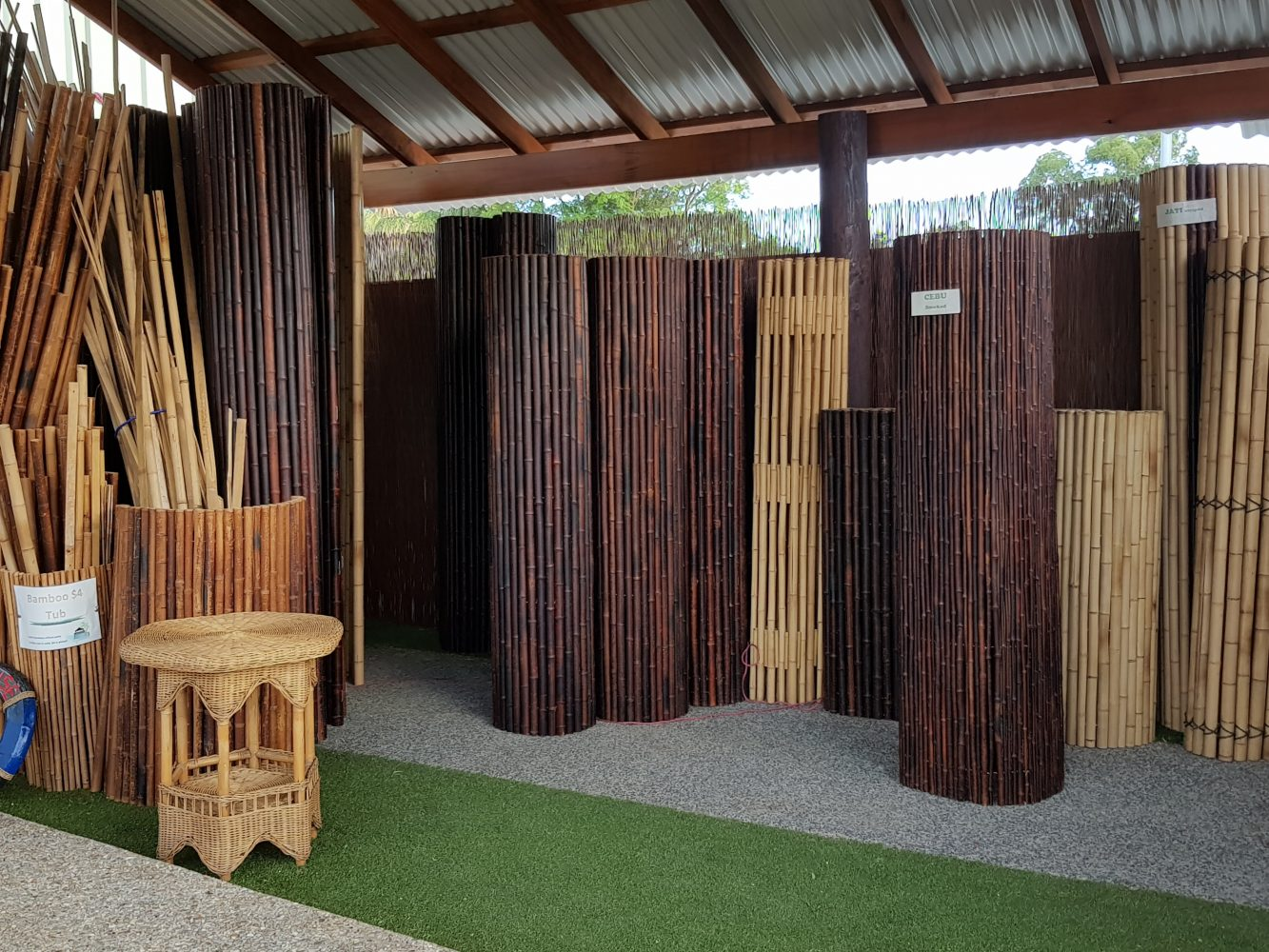 Bamboo Screens Structures Huts Decks Wa