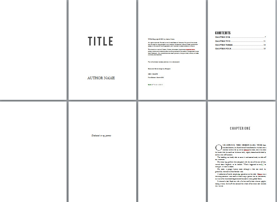 Free book design templates and tutorials for formatting in MS Word