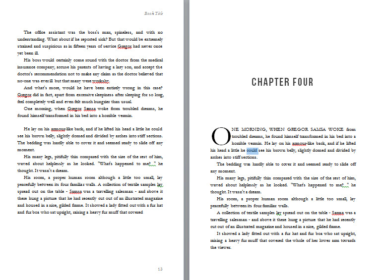 Free book design templates and tutorials for formatting in MS Word - microsoft word book template
