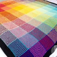 Rainbow Hue Shift Blanket