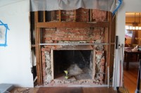 Insulation Around Old Brick Fireplace - Insulation - DIY ...