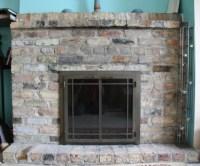 Stone Tile Over Brick Fireplace - Did I Make A Mistake ...
