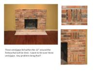 OK To Tile Over Vent/gaps On Brick Fireplace? - Remodeling ...