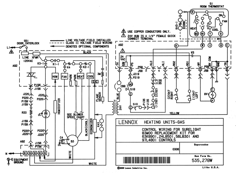 lennox gas furnace wiring schematic