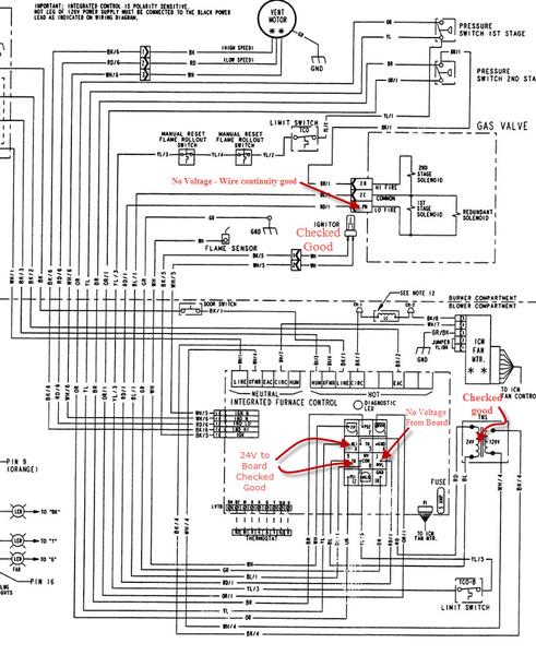 trane furnace wiring home