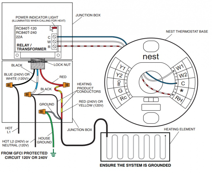 nest thermostat wire diagram 5 wire
