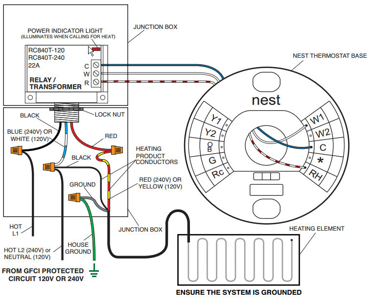4 wire thermostat wiring diagram nest