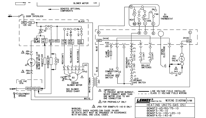 wiring diagram blower motor option is to
