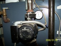 Burnham oil furnace, have hot water but no heat, please ...