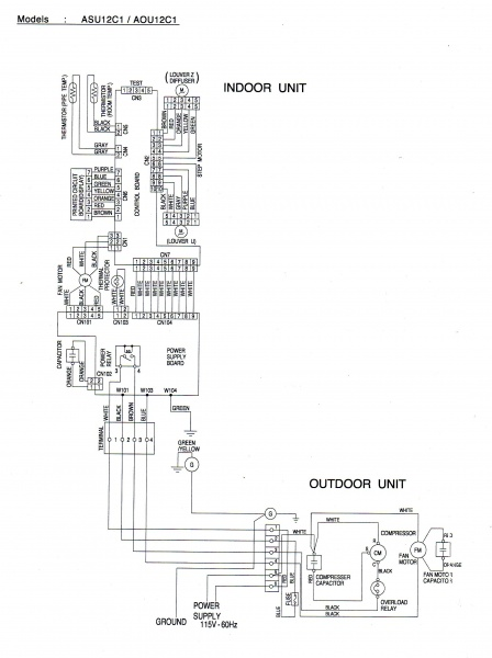 Fujitsu Mini Split Parts Diagram Index listing of wiring diagrams