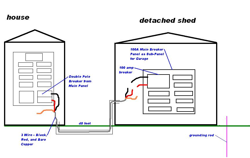 detached garage wiring diagrams 3 wire