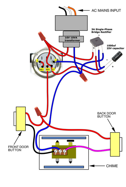 Doorbell Button Wiring Diagram Wiring Diagrams