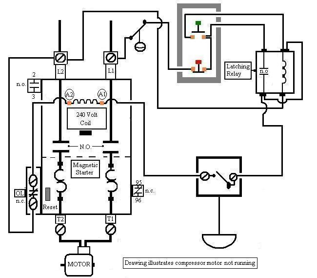 Single Phase Compressor Wiring Diagram With Relay Wiring Diagram