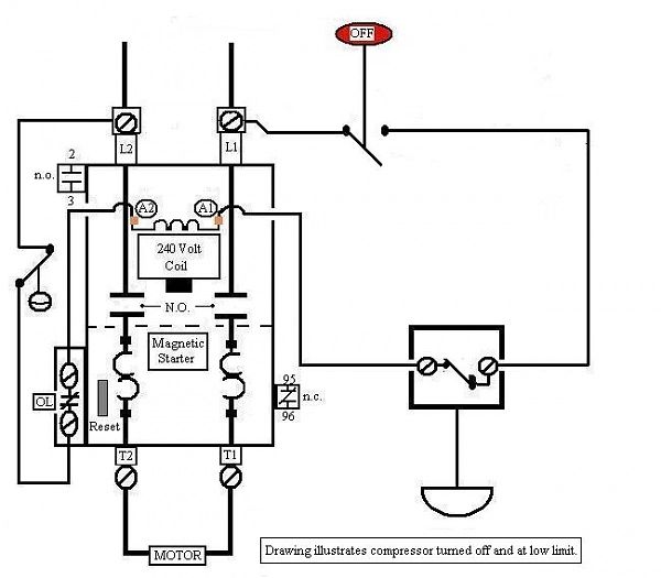 air compressor motor starter wiring diagram new magnetic motor