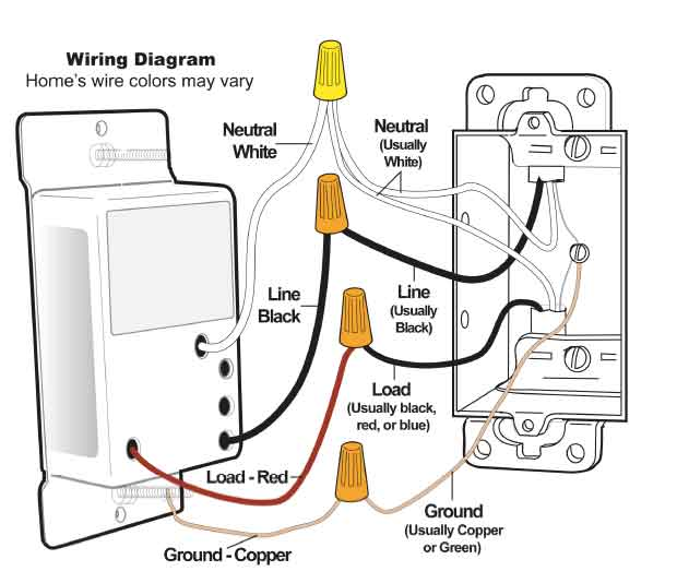 wall light switch wiring diagram