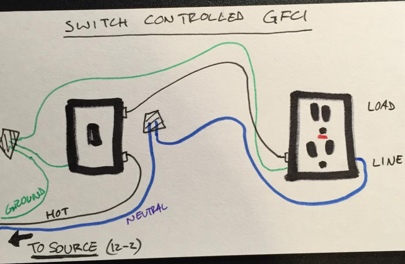 Switched Gfci Outlet Wiring Diagram - Wiring Diagrams Clicks