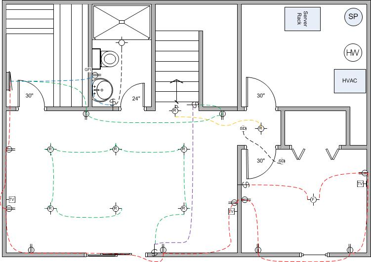 wiring diagram of a two bedroom house
