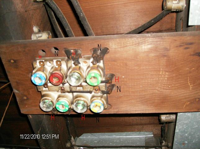 old style fuse and box