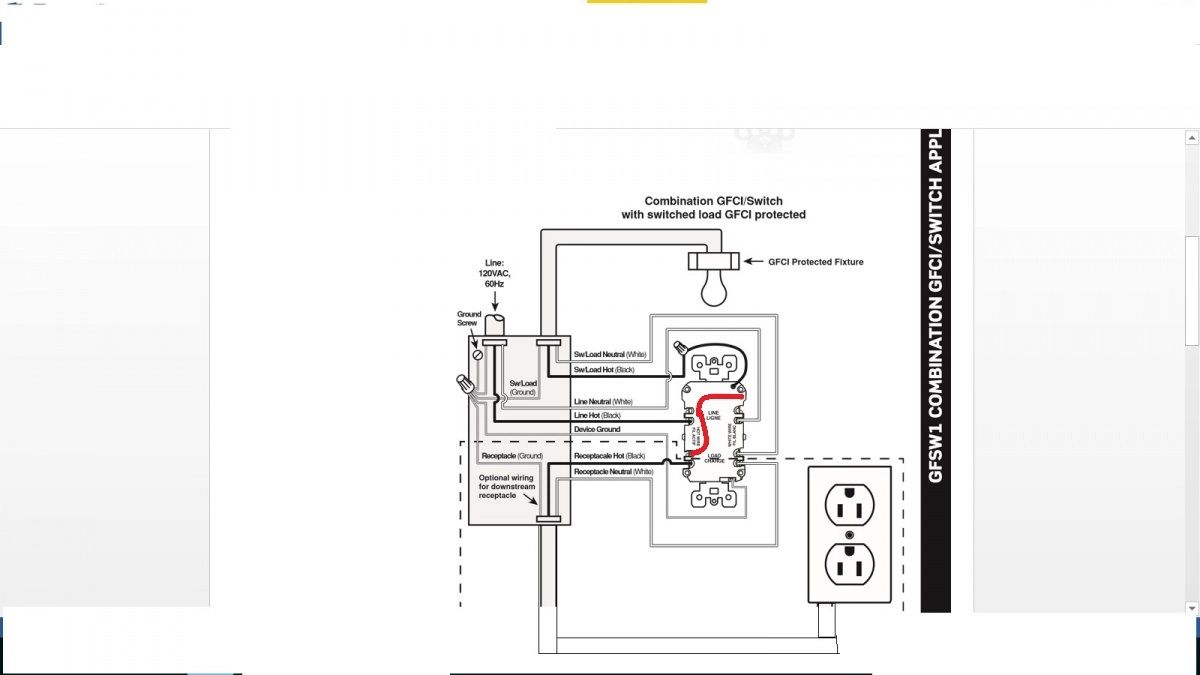 wiring in the home replacing light switch with gfci combo switch