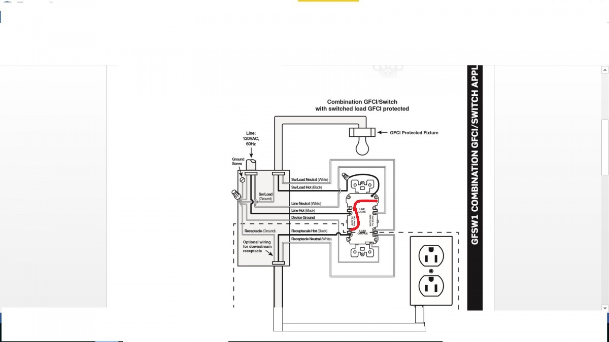 gfci switch combo wiring diagram