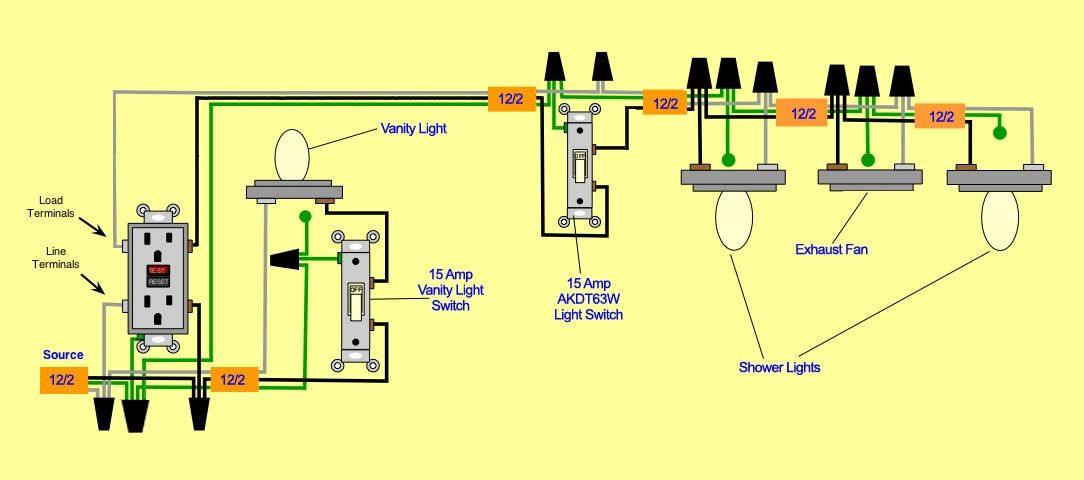 gfci wiring diagram series
