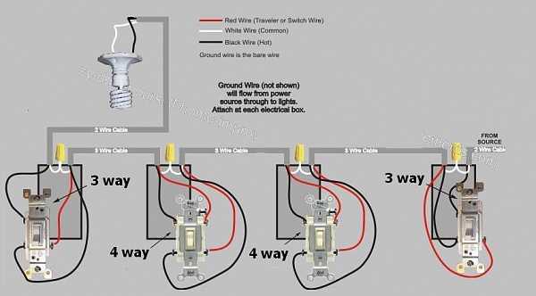 4 Way Switches Wiring Diagram Wiring Diagram