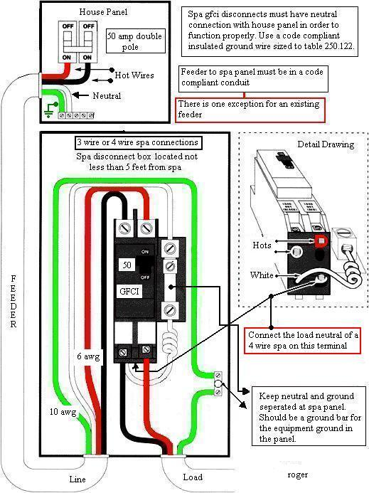 Spa Disconnect Panel Wiring Diagram Wiring Schematic Diagram