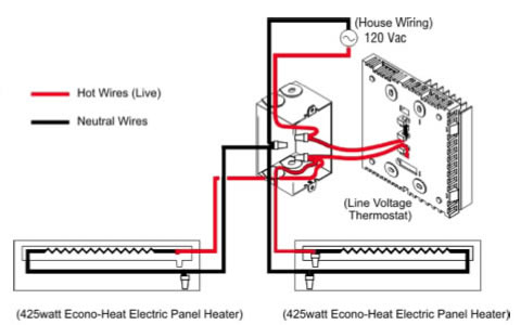 Wiring Electric Baseboard Heaters Electronic Schematics collections
