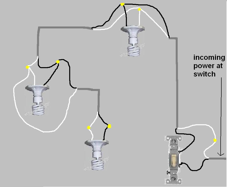 wiring diagram one switch two lights