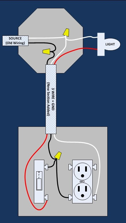 How To Wire A Gfci Schematic To A Light Switch Wiring Diagram