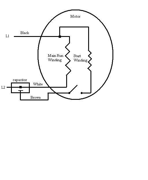 electric motor capacitor start wiring diagram