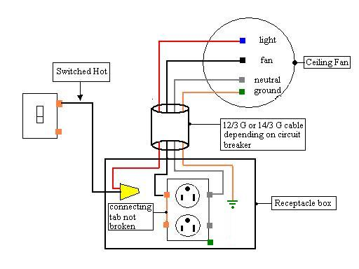 toggle switch wiring diagram for fan