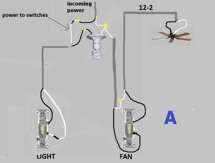 light to light switch diagram