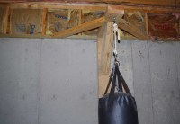 Hanging 70 Lb Heavybag (punching Bag) From Ceiling Joists ...