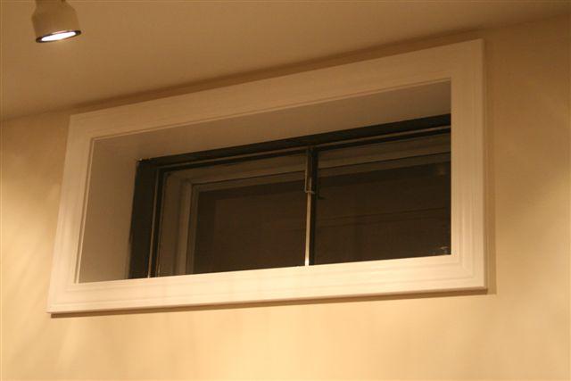 Decorating  Framing A Basement Window