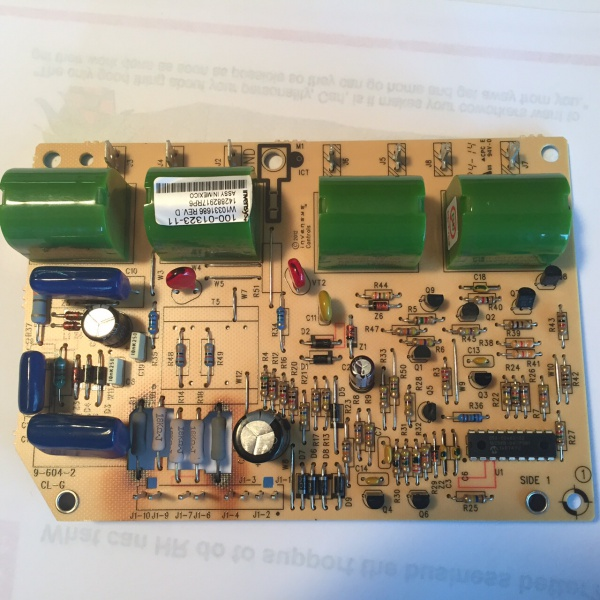 Whirlpool Gas Range Igniter Control Board Overheating - Appliances